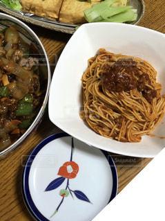 緑,椿,パスタ,小皿,中華,スパゲティ,酢豚,厚揚げ