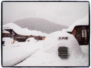 雪,白,旅行,かまくら,ホワイト,大内宿,インスタ映え