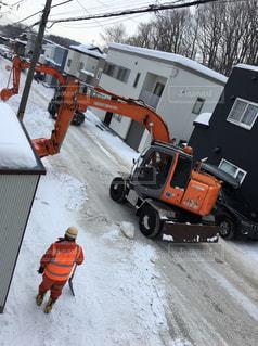 冬,北海道,掃除,除雪車,雪国,ショベルカー,雪かき