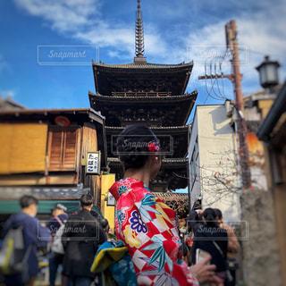八坂の塔の写真・画像素材[1665614]