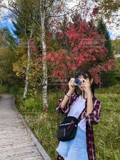 カメラ女子の写真・画像素材[1831552]
