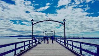 自然,風景,空,橋,屋外,海外,雲,景色,旅行,カナダ,海外旅行,バンクーバー,ホワイトロック