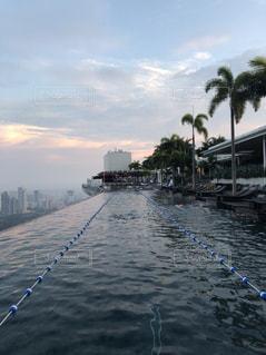 秋,プール,シンガポール,水泳,秋空,スポーツの秋