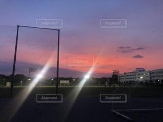 空,秋,夕焼け,千葉県,秋空,景観,キャンパス,眺め