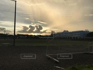 空,秋,雲,夕焼け,千葉県,秋空,景観,キャンパス,眺め