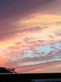 空,秋,雲,夕暮れ,茜色,景観,秋の空