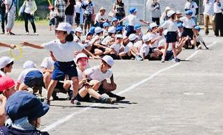 スポーツ,子供,走る,校庭,運動会,リレー,学校生活