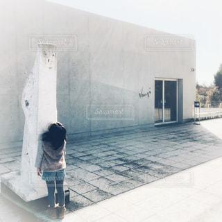 白,建築物,アート,子供,女の子,旅行,美術館,ホワイト,White,art,彫刻,静岡県,フォトジェニック,クレマチスの丘