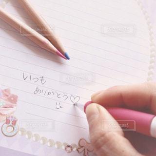 文字,ピンク,手,ペン,メッセージ,色鉛筆,ありがとう,手書き,紙,pink,感謝,Thankyou,便箋,手書き文字