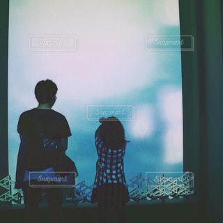 東京,青,後ろ姿,水族館,後姿,旅行,兄妹,すみだ水族館