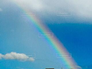 空,雲,晴れ,青空,虹,雨上がり,七色,秋の空