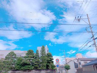 風景,秋,雲,住宅街,秋空,秋の空