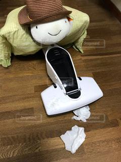 よく吸うね!おニューの掃除機‼︎の写真・画像素材[1487711]