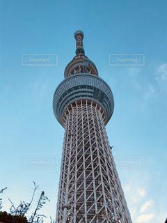 風景,空,建物,東京,タワー,都会,秋空