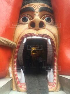 大きな口の入り口の写真・画像素材[1487796]