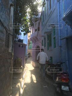 風景,街並み,景色,観光,旅行,通路,インド,海外旅行,ブルーシティ