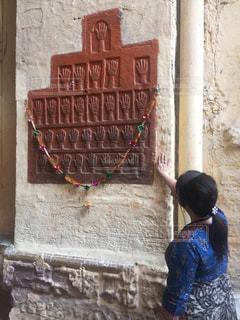 観光,旅行,壁面,インド,海外旅行,手型,儀式,ラジャスタン,ジョドプル,サティ
