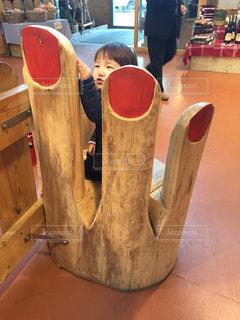 木製テーブルの写真・画像素材[1555926]