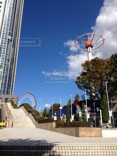 晴天の東京ドームシティの写真・画像素材[1486991]