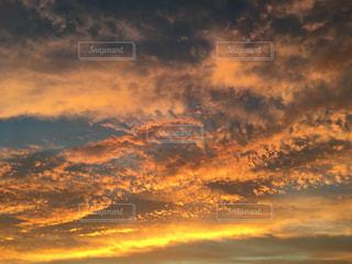 自然,風景,空,秋,夕焼け,うろこ雲