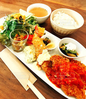 食べ物,秋,ランチ,カラフル,テーブル,皿,チキン,食欲