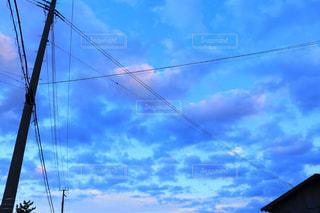 空,秋,屋外,雲,青,水色,リラックス,秋空