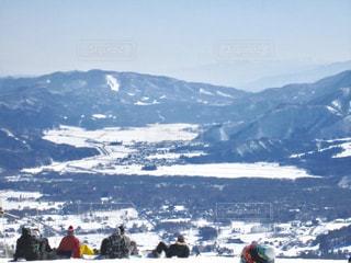 雪,白,スキー,山頂,信州