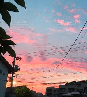 空,夕焼け,夕暮れ,秋空,ピンク色空