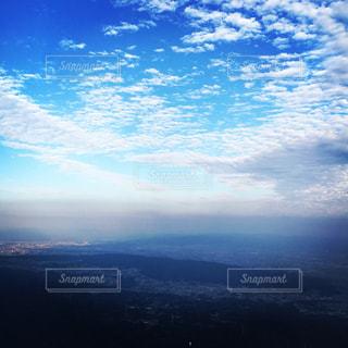空,雲,飛行機,秋空