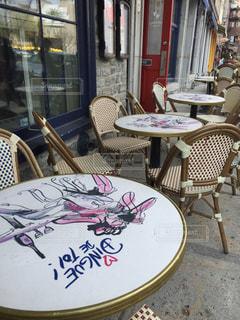 お客様を待つテーブルの写真・画像素材[1554029]
