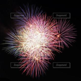 空に花火の写真・画像素材[1318670]