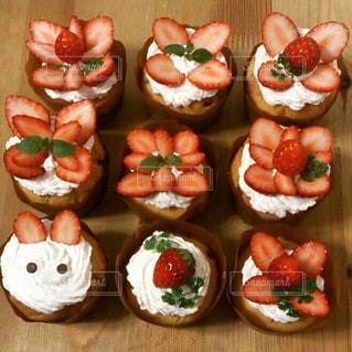食べ物,スイーツ,いちご,カップケーキ,Sweets,甘いもの,食欲,食欲の秋,チョコチップカップケーキ