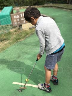 公園,スポーツ,屋外,子供,ゴルフ,運動,男の子,スポーツの秋,ベビーゴルフ