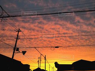 空,雲,夕焼け,秋の空