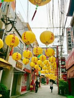 黄色,鮮やか,通り,長崎,中華街,yellow