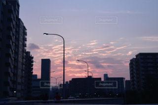 風景,空,道路,夕方,高速道路,都会,道,癒し,明るい,夕焼