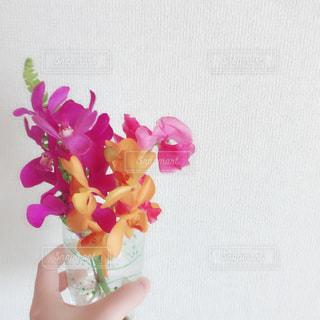 花瓶の花束の写真・画像素材[1542666]
