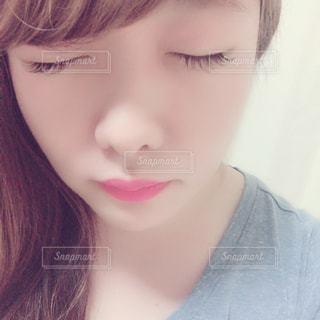 クローズ アップ撮影、selfie ピンクの髪を持つ女性のの写真・画像素材[1646881]