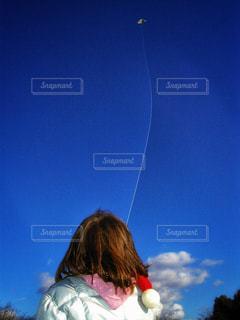 子ども,空,少女,未来,タコ,夢,ポジティブ,凧,希望,高い