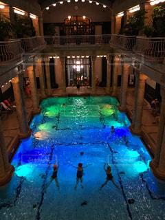 温泉プールの写真・画像素材[2420542]