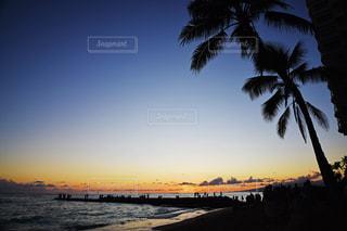 夕暮れのワイキキビーチの写真・画像素材[1815539]
