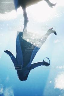 雨上がりの水たまりの写真・画像素材[2178960]
