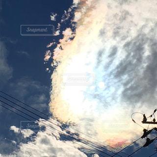 雨上がりの彩雲の写真・画像素材[1541785]
