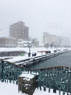 小樽の冬景色の写真・画像素材[1747857]