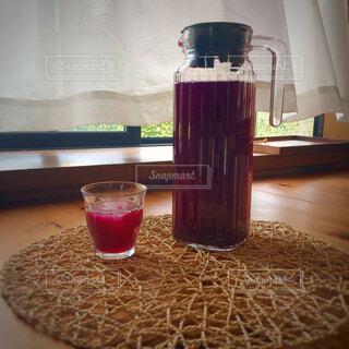 おうちカフェ、紫蘇ジュース。の写真・画像素材[4328393]