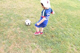 サッカーをする2歳児の写真・画像素材[1506995]