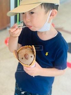 アイス美味しいの写真・画像素材[3605830]