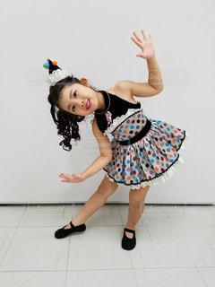 子供,ふわふわ,可愛い,幼児,ダンス,園児,黒髪ロング,パーマ