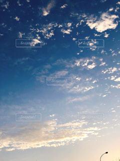 空,夕日,雲,景色,夕陽,秋空