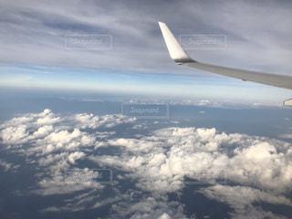 空,雲,飛行機,空 飛行機 青空